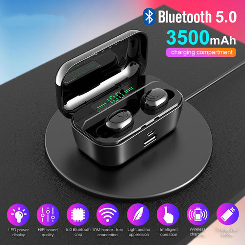 Bluetooth Earphone Multi-functional Waterproof Headset - Smart Widget