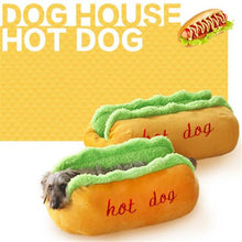 Load image into Gallery viewer, Pet House Funny Hot Dog Bed Winter Warm Puppy Cat Soft Sleeping Mat Creative Fashion Sofa Cushion Supplies Dogs - Smart Widget