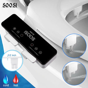 Smart Widget Ultra Thin Non-Electric Mechanical Toilet Seat Bidet Attachment Dual Nozzle Sprayer Fresh Water Spray for Personal Hygiene - Smart Widget