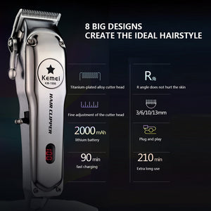 Electric Shaver for Men Twin Blade Cordless Razor Hair - Smart Widget