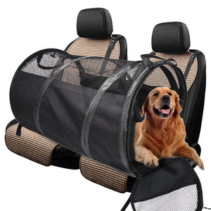 Pet Dog Carriers Car Back Seat Cover Bag Travel Waterproof Foldable - Smart Widget