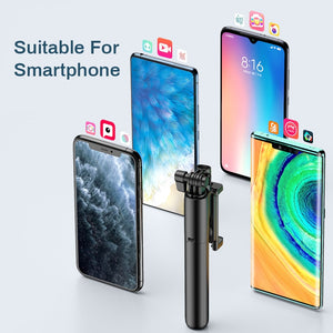 Wireless Bluetooth Selfie Stick Flash Ring Light Extendable Handheld Monopod Tripod For iPhone Huawei Samsung Multifunction - Smart Widget