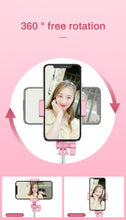 Load image into Gallery viewer, Wireless Bluetooth Selfie Stick Flash Ring Light Extendable Handheld Monopod Tripod For iPhone Huawei Samsung Multifunction - Smart Widget