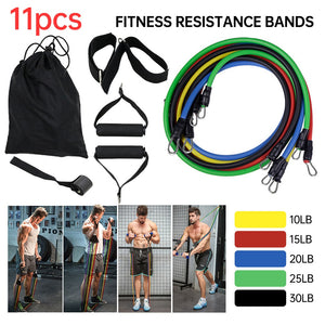 Resistance Bands Set Exercise Bands with Door Anchor Legs Ankle Straps for Resistance Training Physical Therapy Inside Workouts - Smart Widget