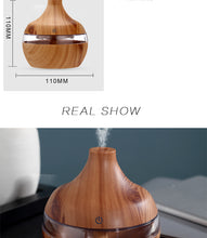 Load image into Gallery viewer, Electric Humidifier Essential Aroma Oil Diffuser Ultrasonic Wood Grain - Smart Widget