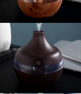 Electric Humidifier Essential Aroma Oil Diffuser Ultrasonic Wood Grain - Smart Widget