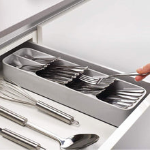 Load image into Gallery viewer, Plastic Knife Holder Drawer Knives Forks Spoons Storage Rack Organizer - Smart Widget
