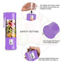 Load image into Gallery viewer, Portable USB Electric Safety Fruit Juice Blender for Travel - Smart Widget
