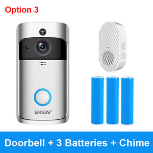 Smart Wireless WiFi Security DoorBell Visual Recording Home Monitor - Smart Widget