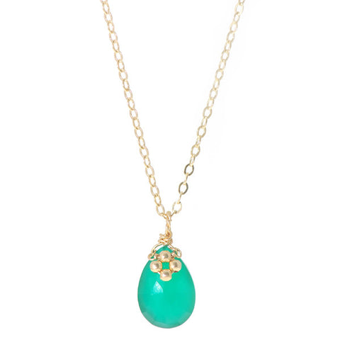 Flower on Gem Necklace