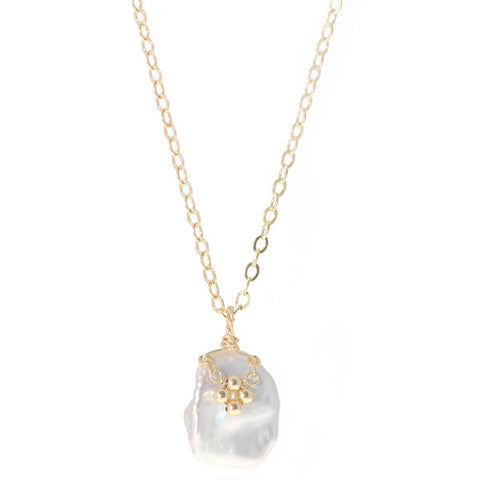 Flower on Pearl Necklace