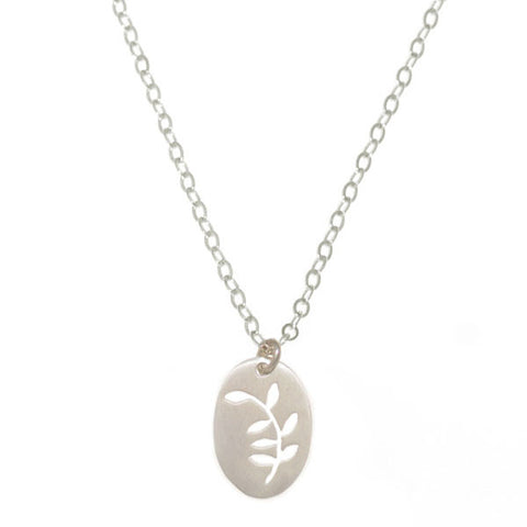 _Pecan Tree Leaves Necklace