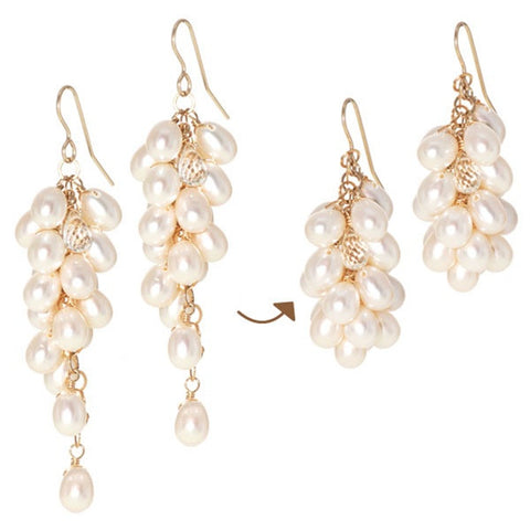 Pearl Berry Drops 2-way Earrings