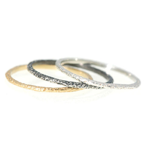 Diamond Dust Textured Ring 1mm