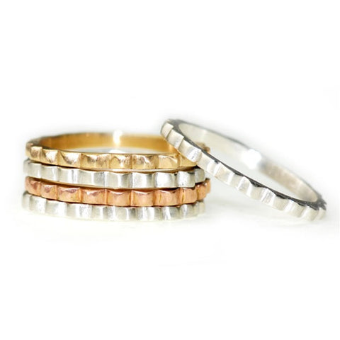 Scalloped Stackable Ring