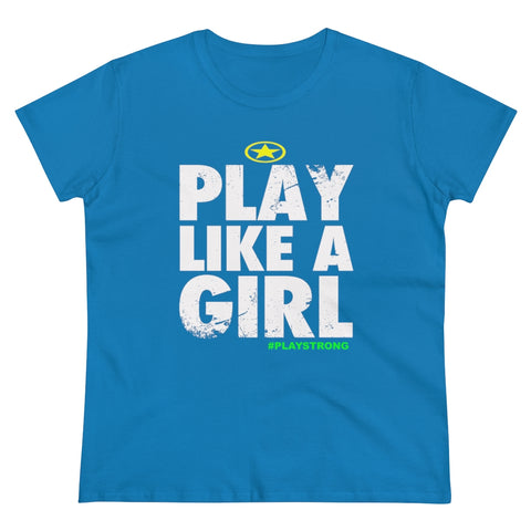 Image of Play Like A Girl Women's Heavy Cotton Tee