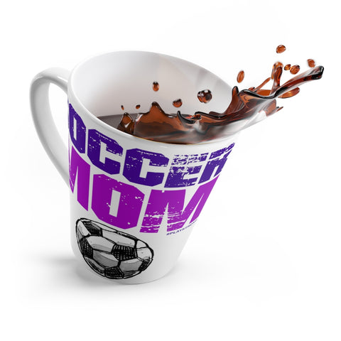 Awesome SOCCER MOM Latte Mug