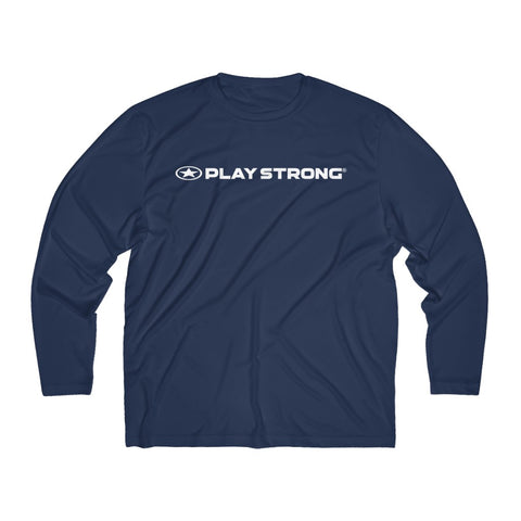 Image of Play Strong Logo Men's Long Sleeve Sport Performance Tee