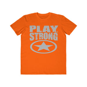 Play Strong Super Star Classic Gray Logo Men's Lightweight Fashion Tee