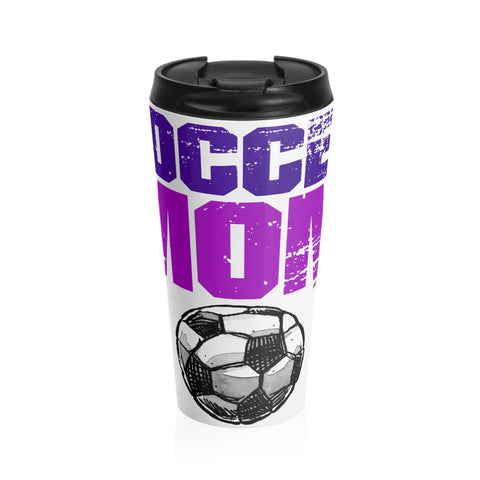 Image of Amazing SOCCER MOM Stainless Steel Travel Mug