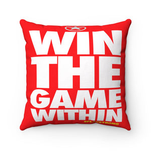 WIN THE GAME WITHIN Sports PowerWORD Square Pillow