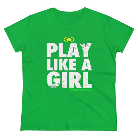 Play Like A Girl Women's Heavy Cotton Tee