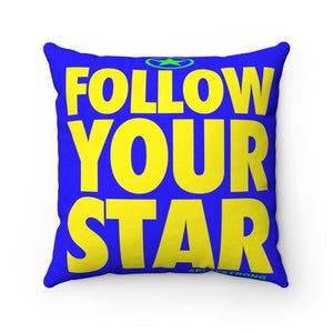 FOLLOW YOUR STAR Sports PowerWORD Square Pillow