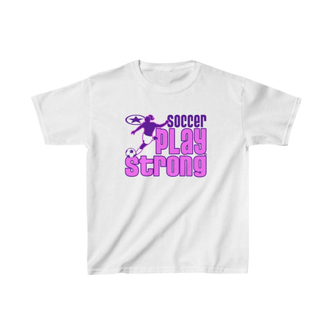 Image of GIRLS SOCCER Kids Heavy Cotton™ Tee