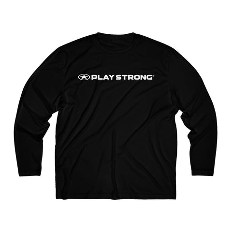 Play Strong Logo Men's Long Sleeve Sport Performance Tee