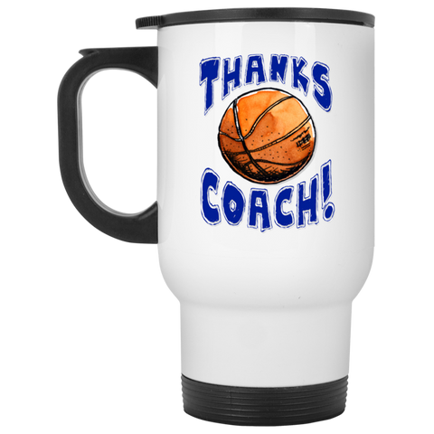 Thanks Coach! Basketball Play Strong Travel Mug