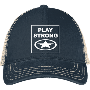 Play Strong Logo Mesh Back Cap