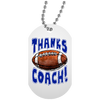 Thanks Coach! Dog Tag & Silver Chain