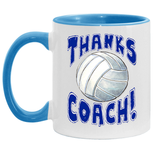 Thanks Coach! Volleyball Accent Mug
