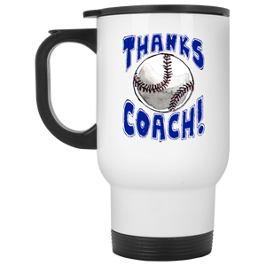 Thanks Coach! Baseball Play Strong Travel Mug