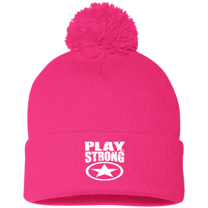Play Strong Super Star Pom Pom Knit Cap