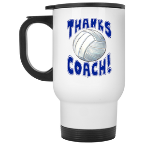 Thanks Coach! Volleyball Play Strong Travel Mug