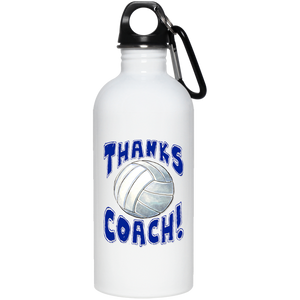 Thanks Coach! 20 oz. Stainless Steel Water Bottle