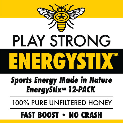 Image of ENERGYSTIX™ 12-Pack Play Strong Sports - Sports Energy Made in Nature - 100% Unfiltered Pure Honey - 12 Sticks in Each Pack!