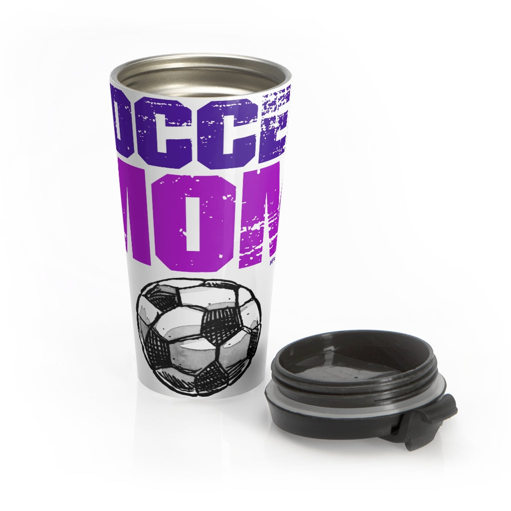 Amazing SOCCER MOM Stainless Steel Travel Mug