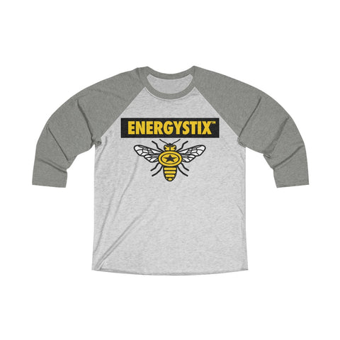 Image of Play Strong EnergyStix™ Unisex Tri-Blend 3/4 Raglan Tee