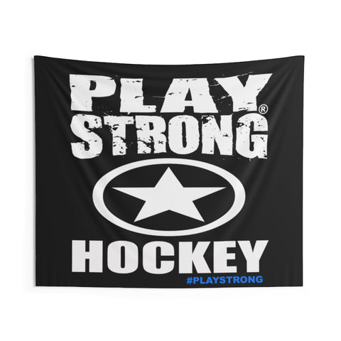 PLAY STRONG HOCKEY Indoor Wall Banner