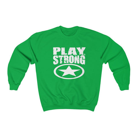 "Play Strong ""Super Star"" Logo Unisex Heavy Blend™ Crewneck Sweatshirt"