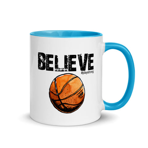 Image of BELIEVE Basketball Mug with Color Inside