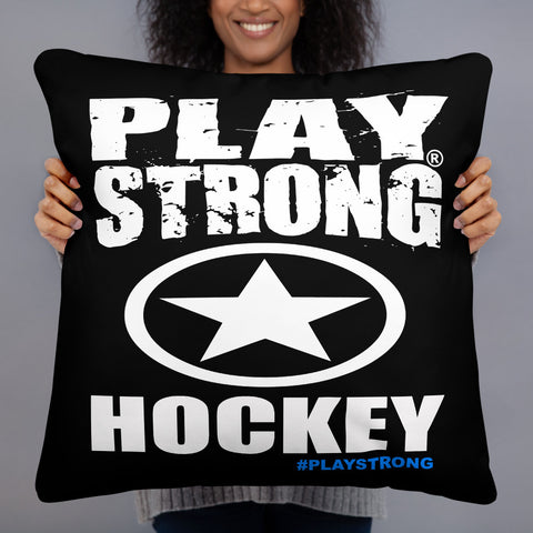 PLAY STRONG HOCKEY Basic Pillow