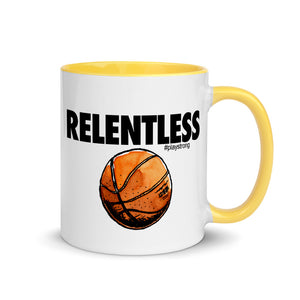 RELENTLESS Basketball Mug with Color Inside
