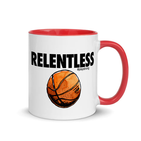 Image of RELENTLESS Basketball Mug with Color Inside