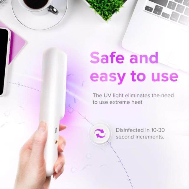 The Clean Phone Wand, Handheld UVC Sanitizer w/ Wrist Strap & Storage Bag - The Global Majority Shop
