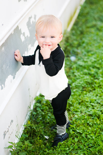 baby boy modern black and white outfit