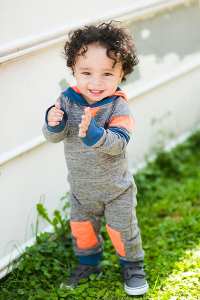 Baby boys heather grey romper