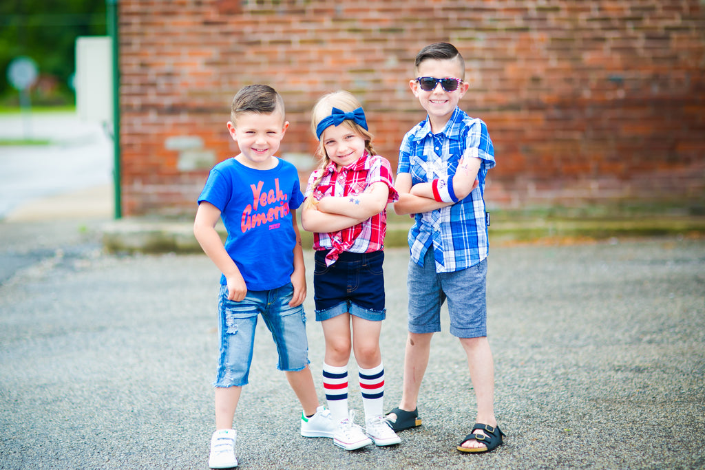 Red white and blue clothes for kids